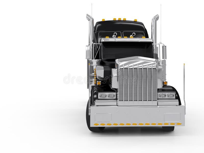 svart tung lastbil royaltyfri illustrationer