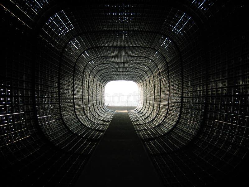 Svart tunnel arkivbild