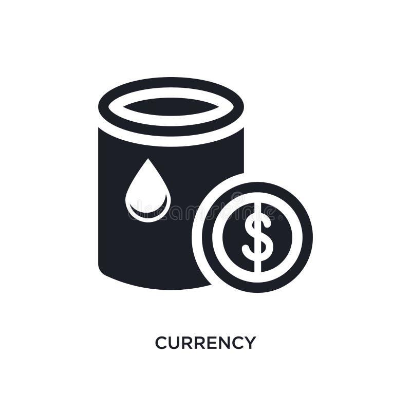 svart valuta isolerad vektorsymbol enkel beståndsdelillustration från symboler för branschbegreppsvektor redigerbart logosymbol f stock illustrationer
