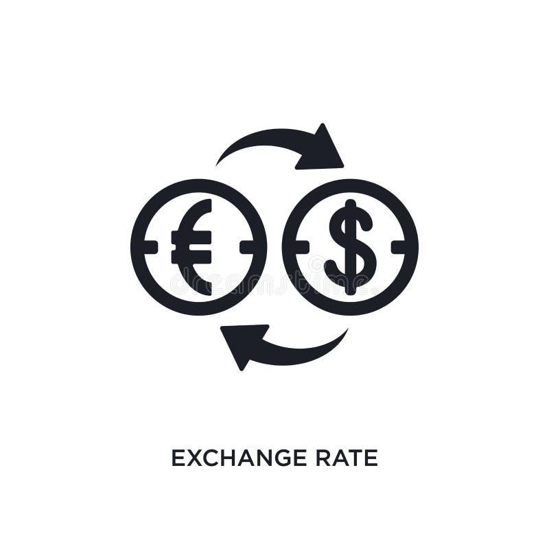 svart valutakurs isolerad vektorsymbol enkel best?ndsdelillustration fr?n symboler f?r e-kommers och betalningbegreppsvektor utby royaltyfri illustrationer