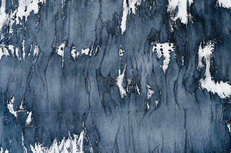 Svart vattenfärgbakgrundstextur arkivfoton