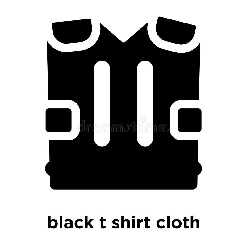 svart vektor för symbol för t-skjortatorkduk som isoleras på vit bakgrund, lo stock illustrationer