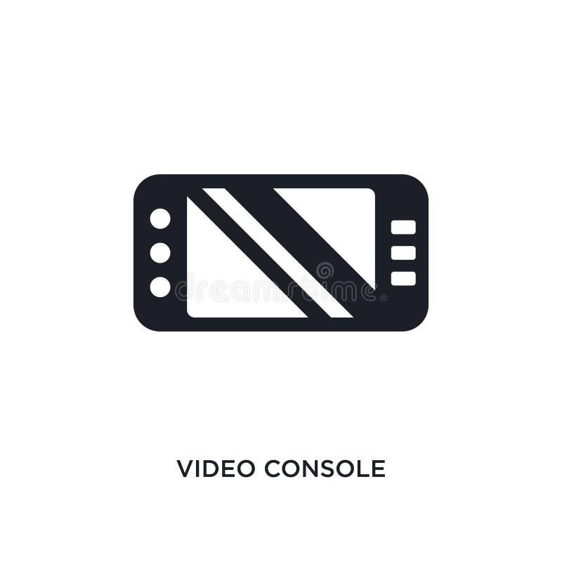 svart video konsol isolerad vektorsymbol enkel beståndsdelillustration från ökade symboler för verklighetbegreppsvektor Video kon vektor illustrationer