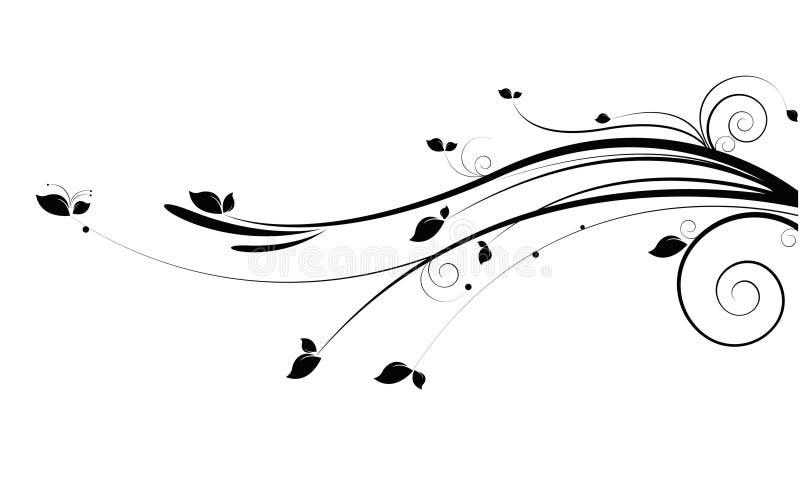 svart vine stock illustrationer