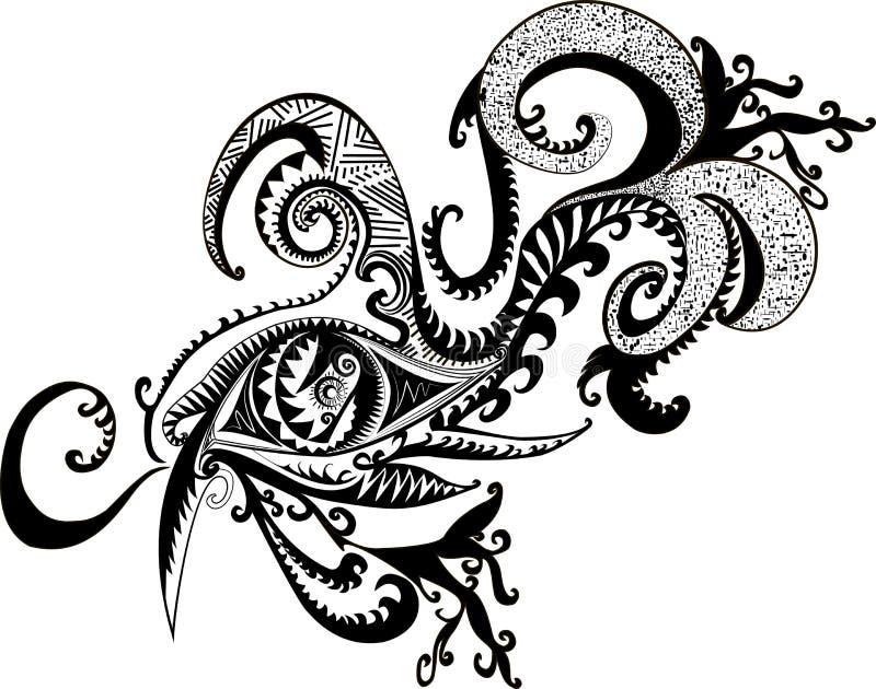 Svart vit, fantastiskt som är abstrakt, medicinman, dekorativt öga stock illustrationer