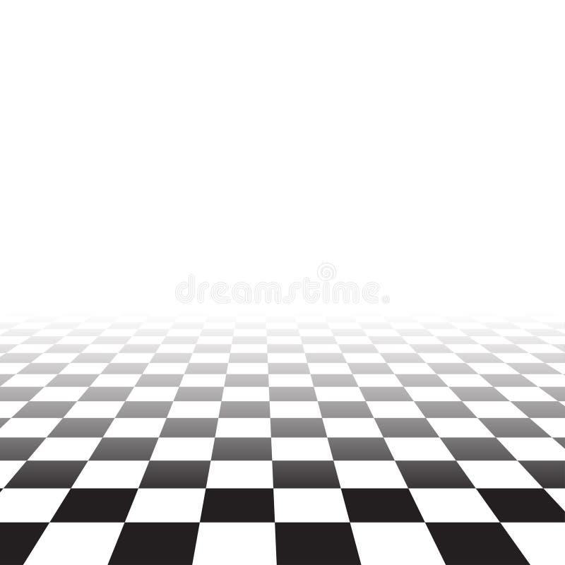 Svart vit slumpmässig fyrkantig mosaik, tegelplattor schack vektor illustrationer