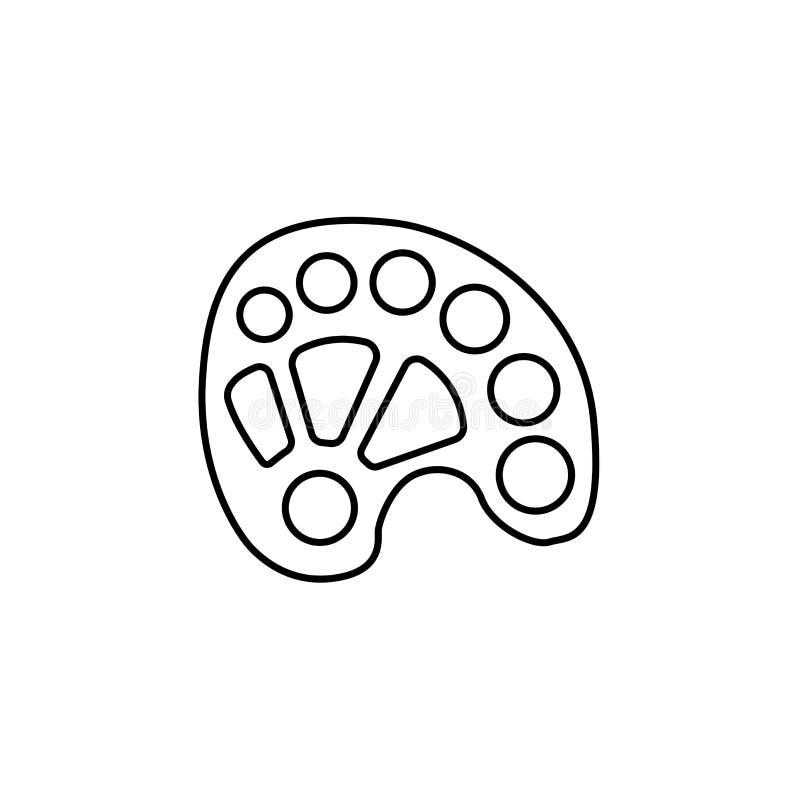 Svart & vit vektorillustration av den avlånga plast- paletten lin royaltyfri illustrationer