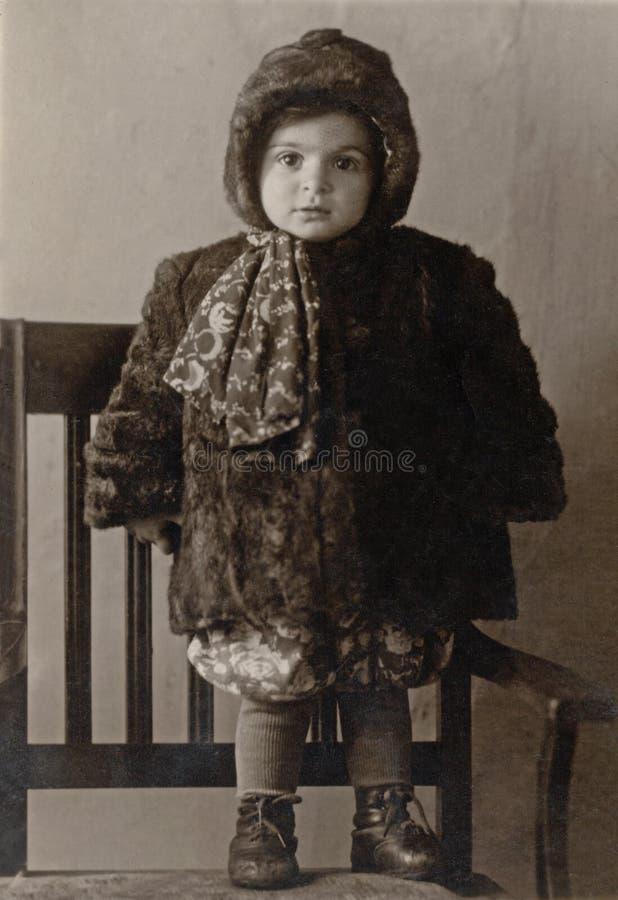 svart white för bildståendetappning royaltyfri foto