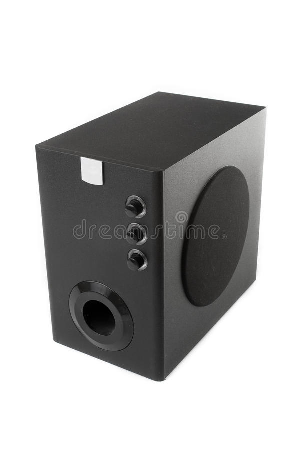 svart woofer royaltyfria foton