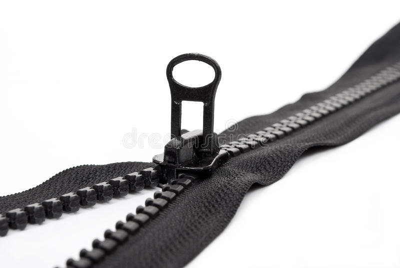 svart zipper royaltyfri fotografi