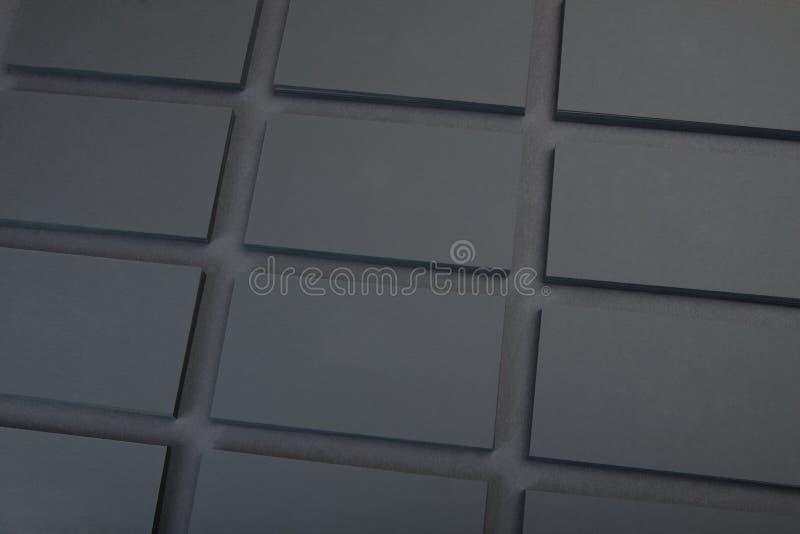 svarta affärskort arkivfoto