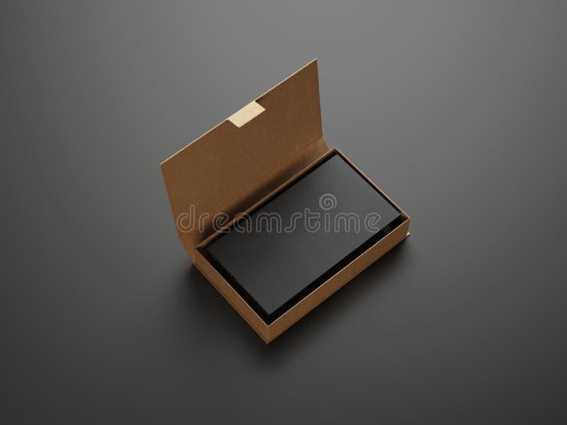 Svarta affärskort i asken arkivbilder