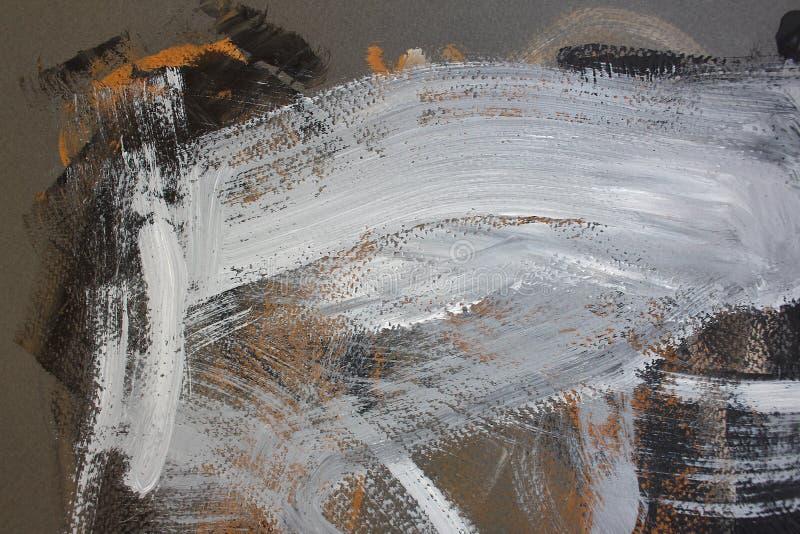 svarta bruna färger på kanfas abstrakt konstbakgrund Färgtextur Fragment av konstverk abstrakt kanfasmålning royaltyfri foto