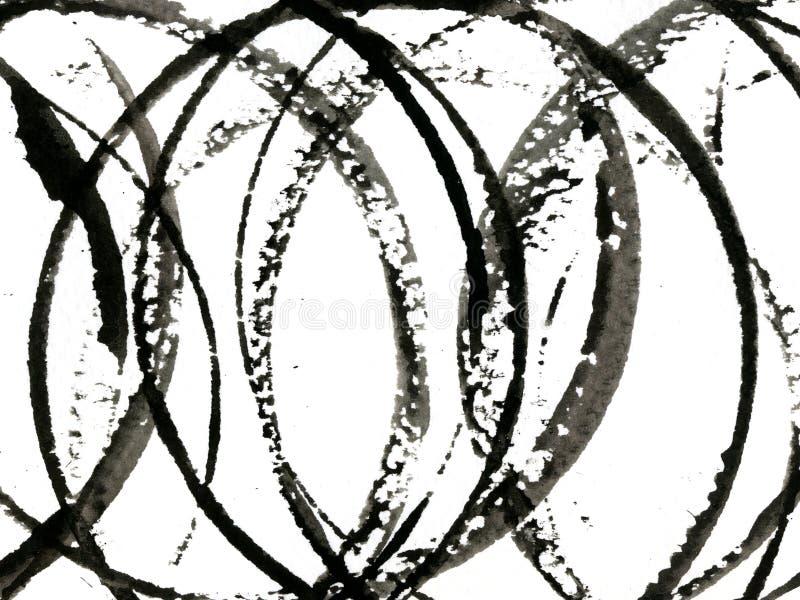 svarta cirklar royaltyfri bild