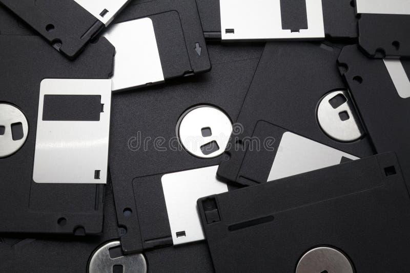 Svarta disketter arkivbilder