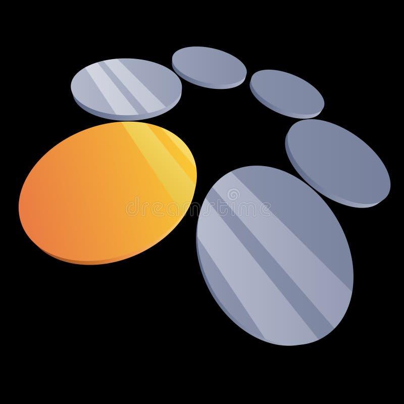 svarta disks 3d stock illustrationer