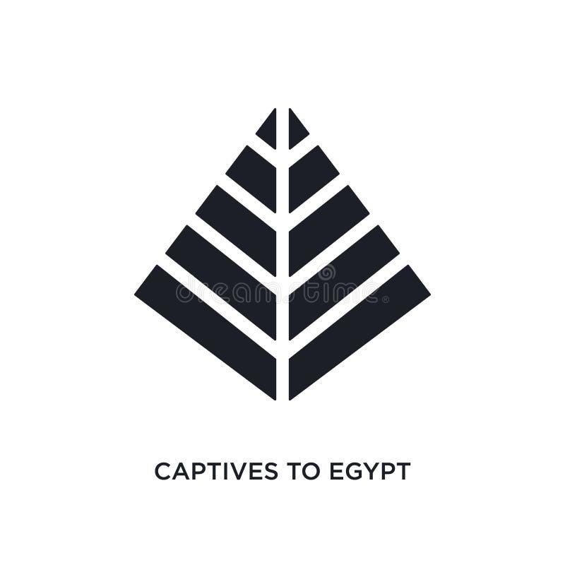 svarta fången till Egypten isolerade vektorsymbolen enkel best?ndsdelillustration fr?n symboler f?r religionbegreppsvektor fången stock illustrationer