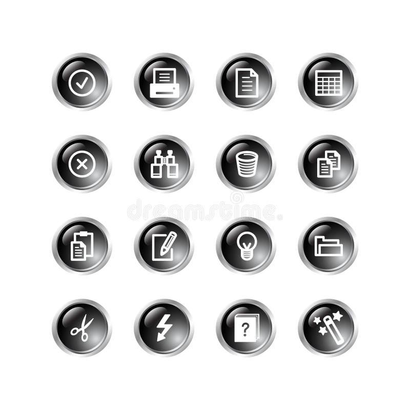 svarta förlagedroppsymboler vektor illustrationer
