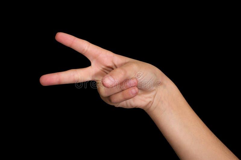svarta fingrar isolerade två arkivfoton