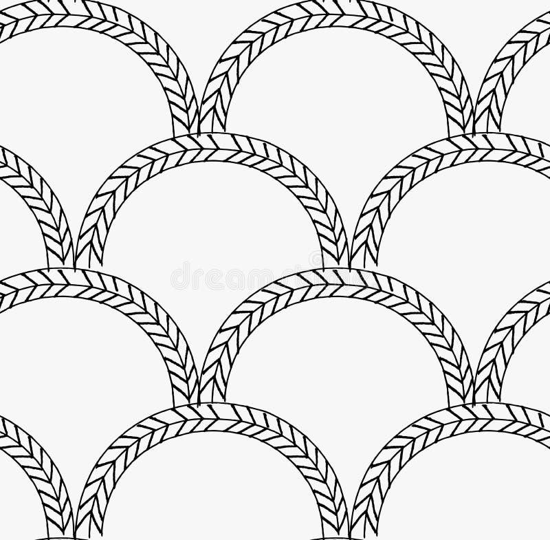 Svarta flätade trådar för markör i bågar stock illustrationer