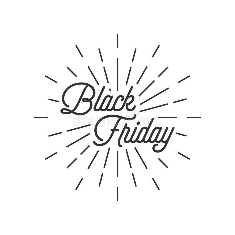 Svarta fredag med bristning vektor illustrationer