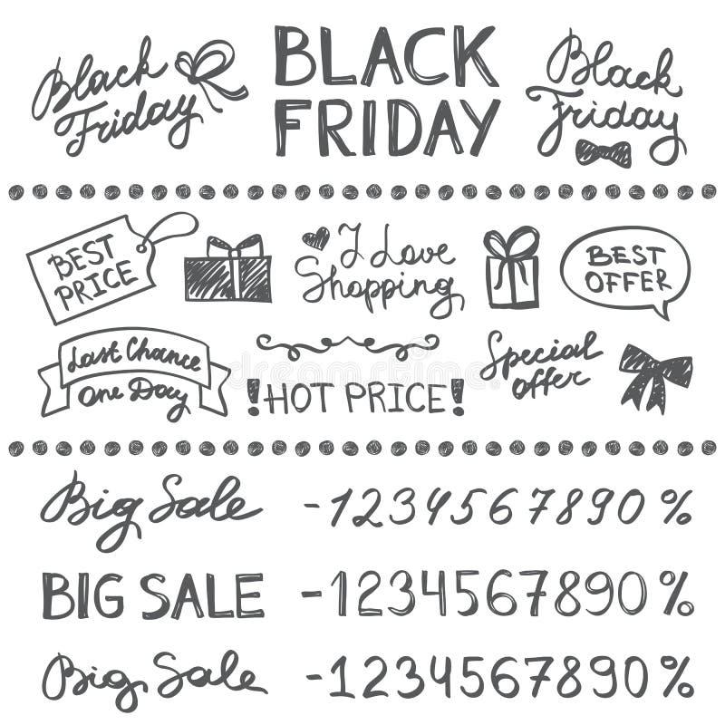 svarta friday royaltyfri illustrationer