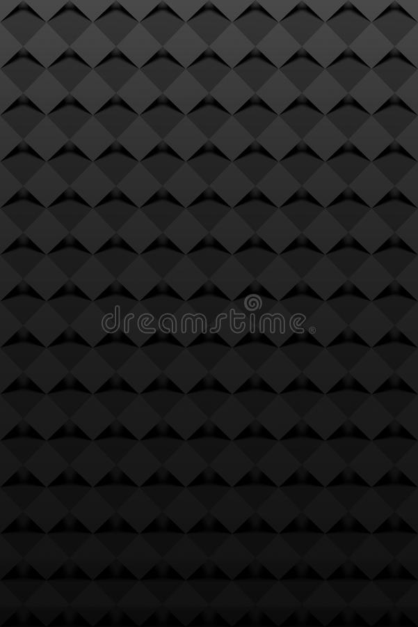 Svarta fyrkanter - abstrakt vertikal bakgrund vektor illustrationer