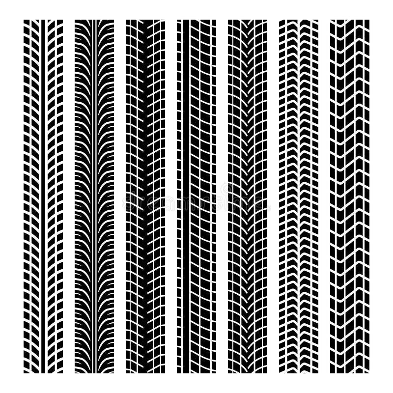 Svarta gummihjulfläckar royaltyfri illustrationer