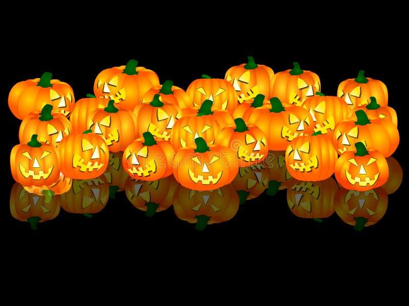 svarta halloween för bakgrund pumpor vektor illustrationer
