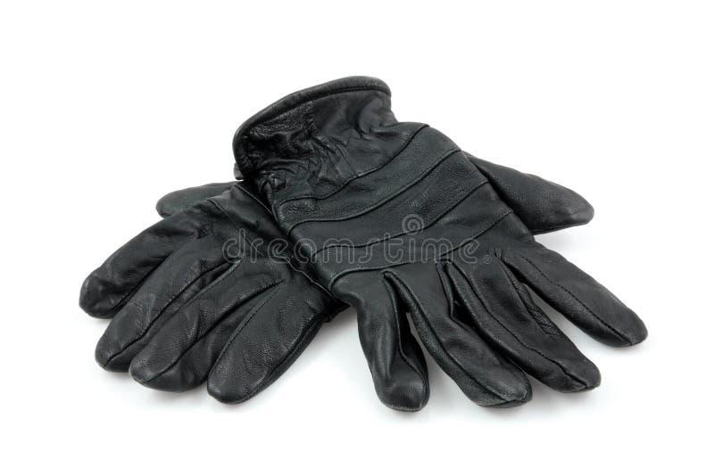 svarta handskar piskar par fotografering för bildbyråer