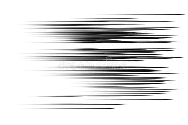 Svarta hastighetslinjer vektor illustrationer