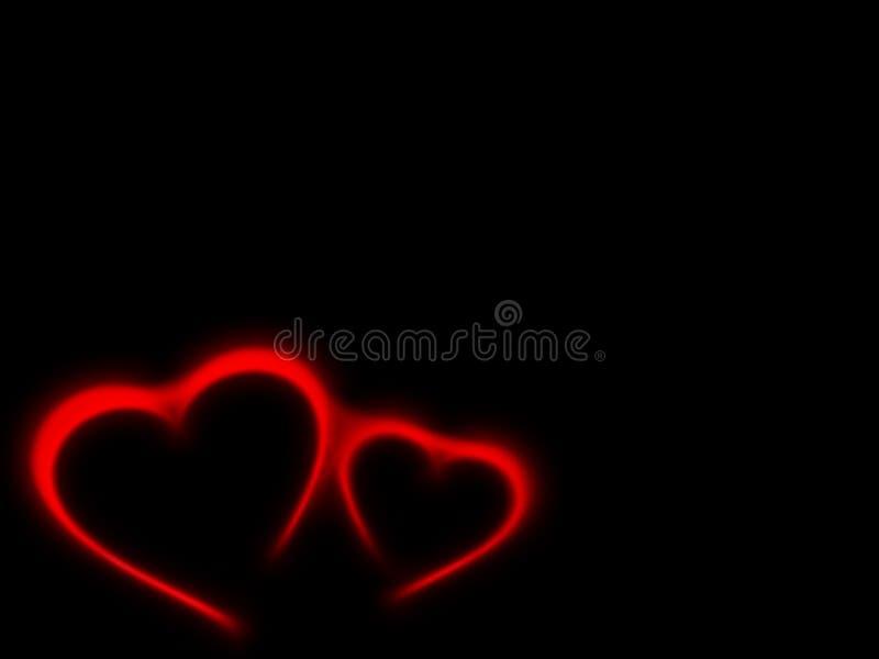svarta hjärtor för bakgrund vektor illustrationer