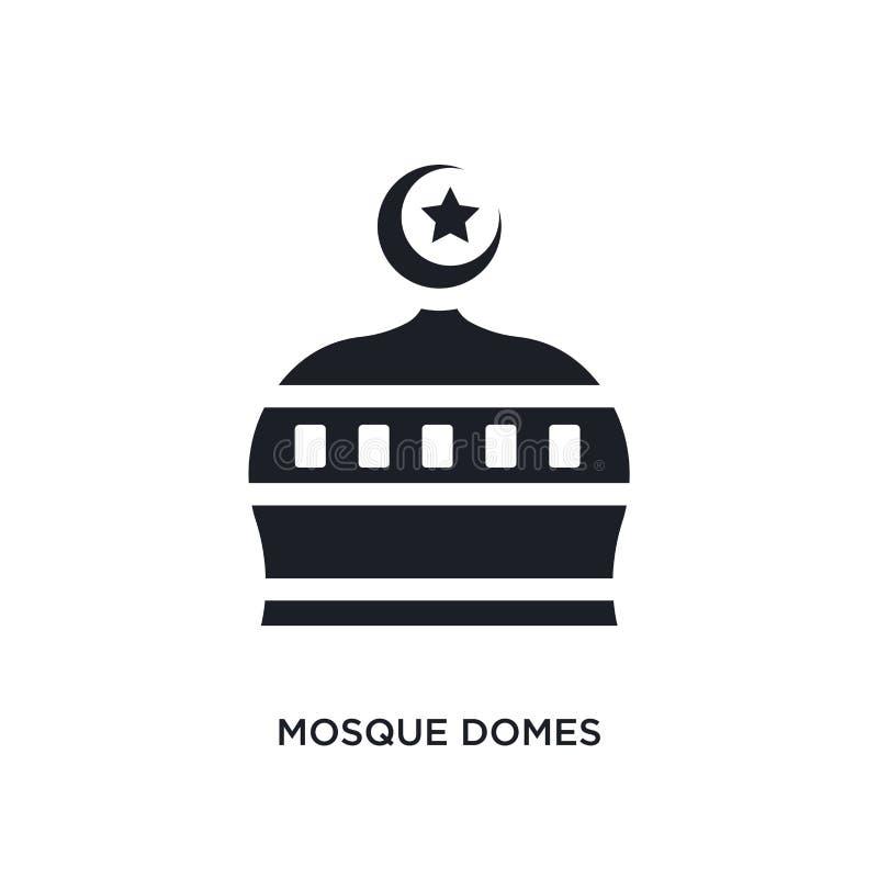 svarta isolerad vektorsymbol för moské kupoler enkel best?ndsdelillustration fr?n symboler f?r religionbegreppsvektor redigerbara vektor illustrationer
