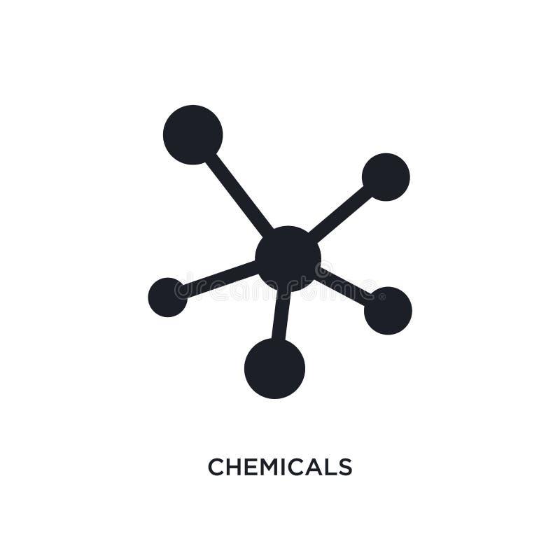 svarta kemikalieer isolerad vektorsymbol enkel beståndsdelillustration från symboler för branschbegreppsvektor redigerbar logo fö royaltyfri illustrationer