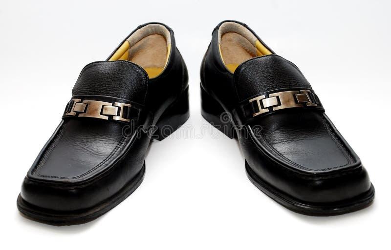 Download Svarta male skor fotografering för bildbyråer. Bild av endast - 3526751