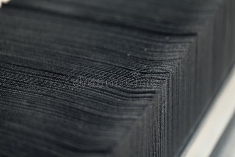 Svarta pappers- servetter royaltyfri fotografi
