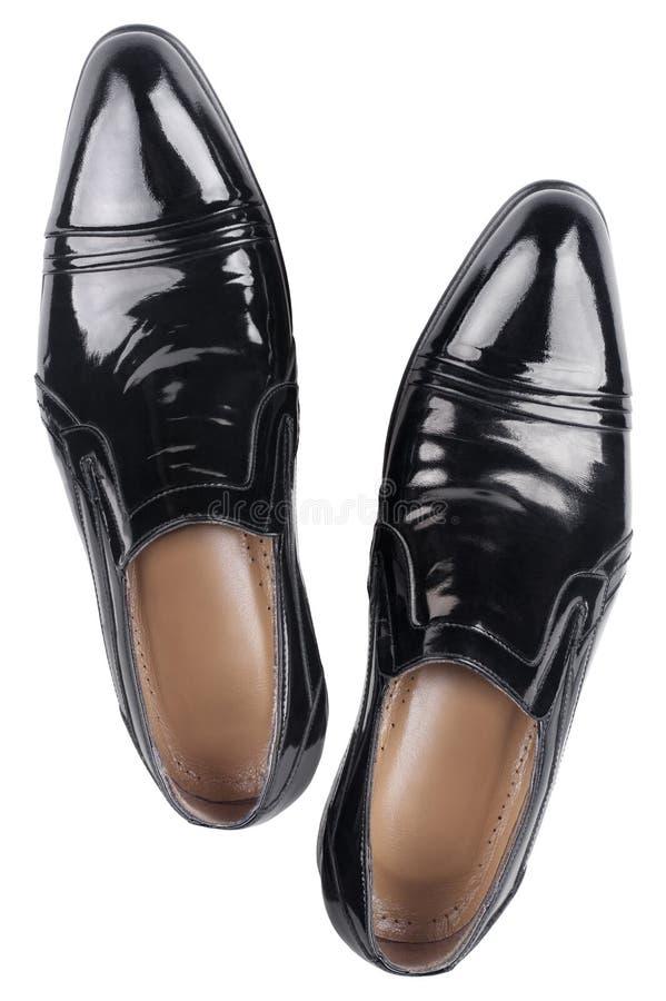 Svarta patenterade läderskor   fotografering för bildbyråer
