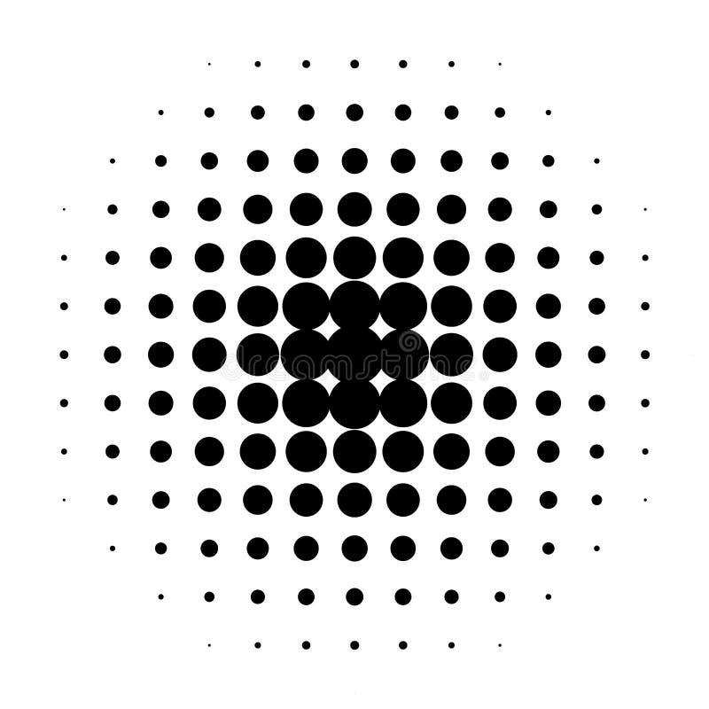 svarta prickar stock illustrationer