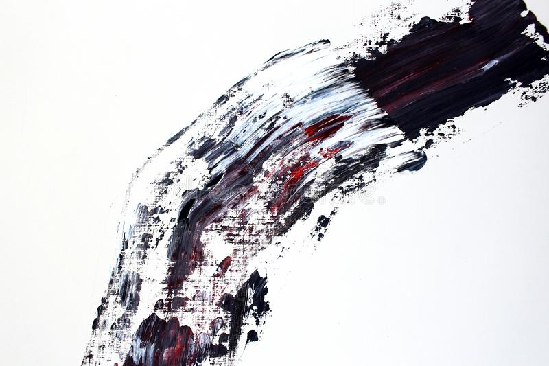 Svarta röd linjefärger på kanfas abstrakt konstbakgrund Färgtextur Fragment av konstverk abstrakt kanfasmålning vektor illustrationer