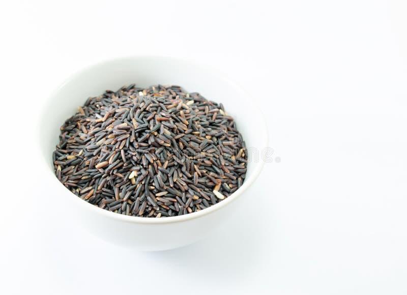 Svarta ris Thailand, organiskt ris royaltyfria foton