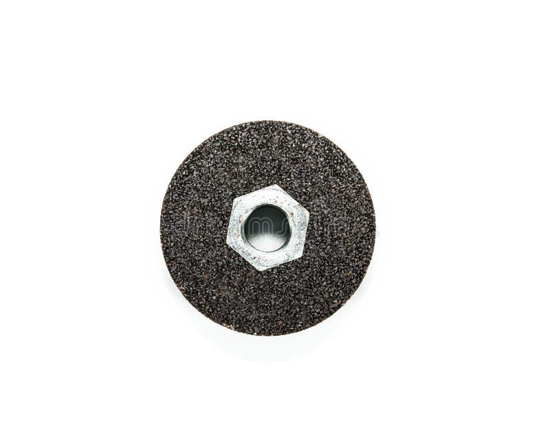 Svarta slipande hjul som isoleras på en vit bakgrund royaltyfri bild