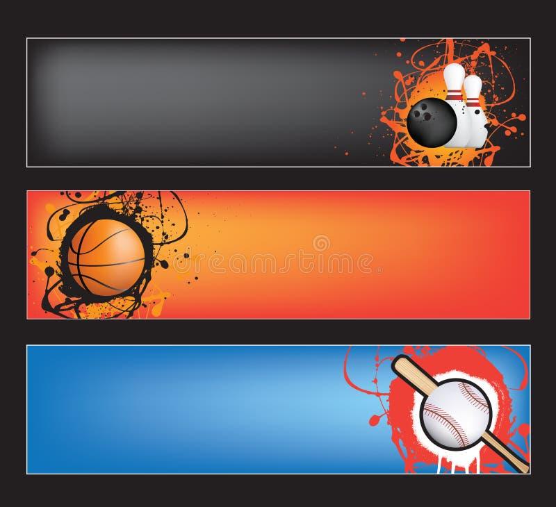 svarta sportar för baner stock illustrationer