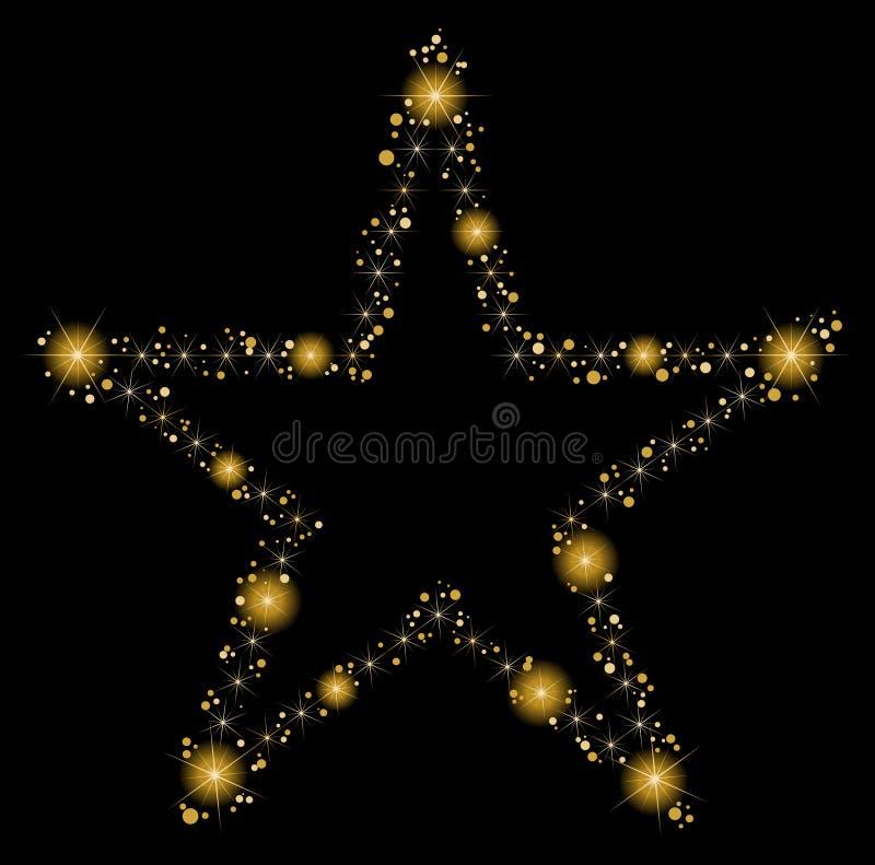 svarta stjärnor för bakgrund royaltyfri illustrationer