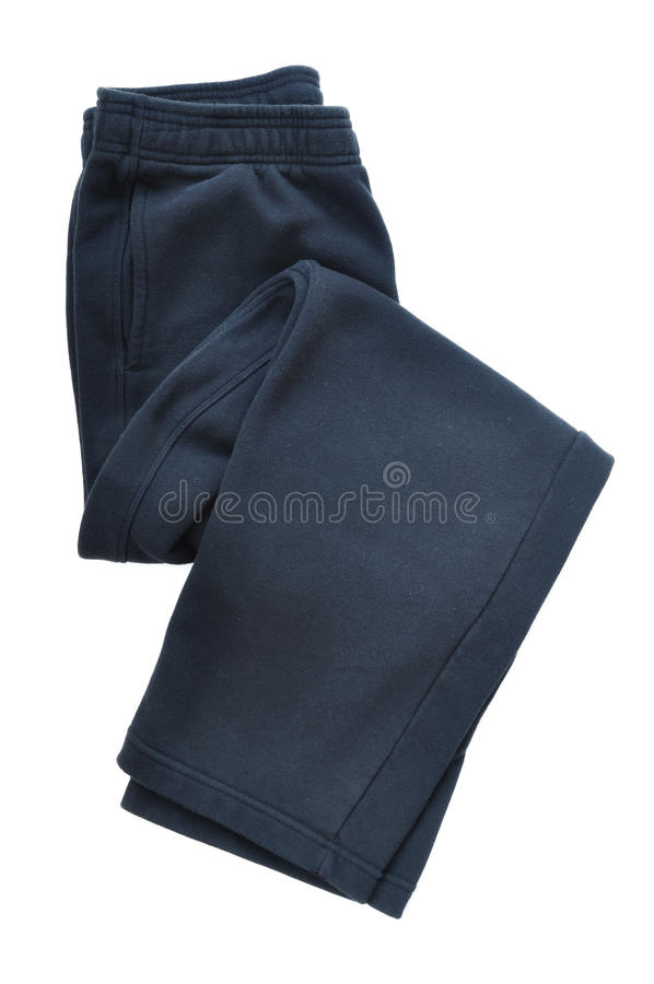 svarta sweatpants royaltyfri foto