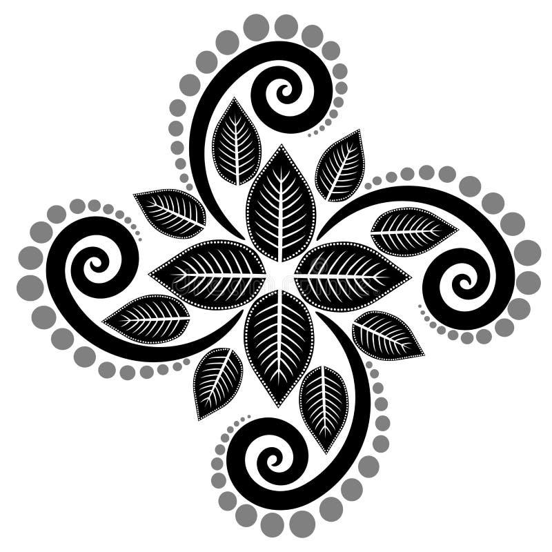 Svarta vita sidor rundar illustrationer stock illustrationer