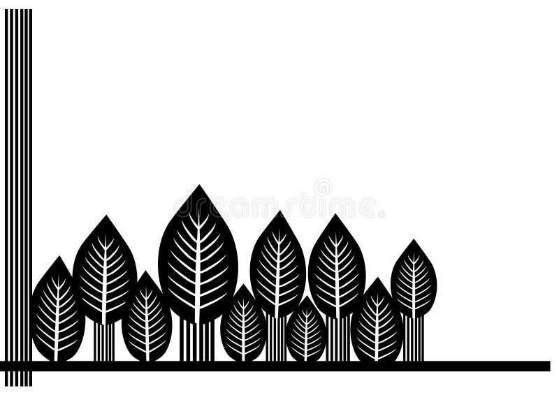 Svarta vita sidor royaltyfri illustrationer