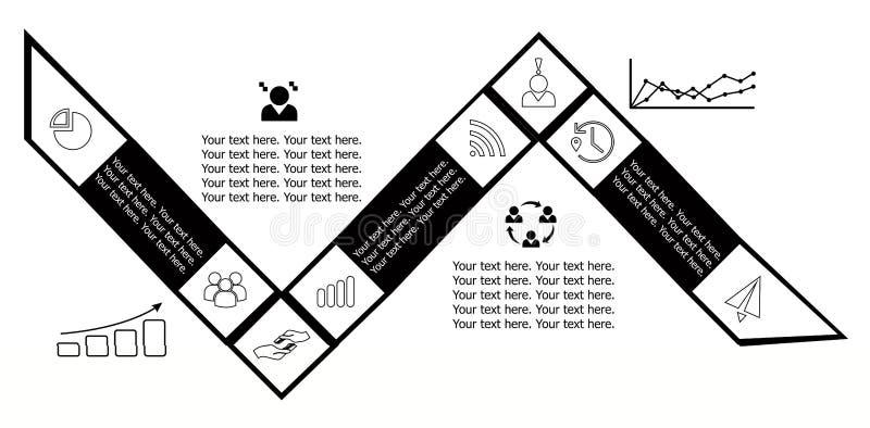 Svarten för infographicslägenhetdesign royaltyfri illustrationer