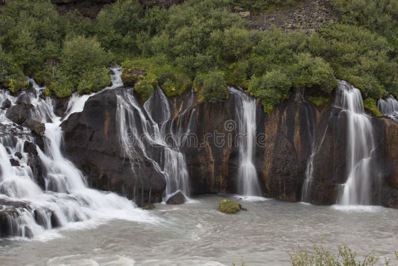 Svartifoss瀑布Skaftafell 图库摄影