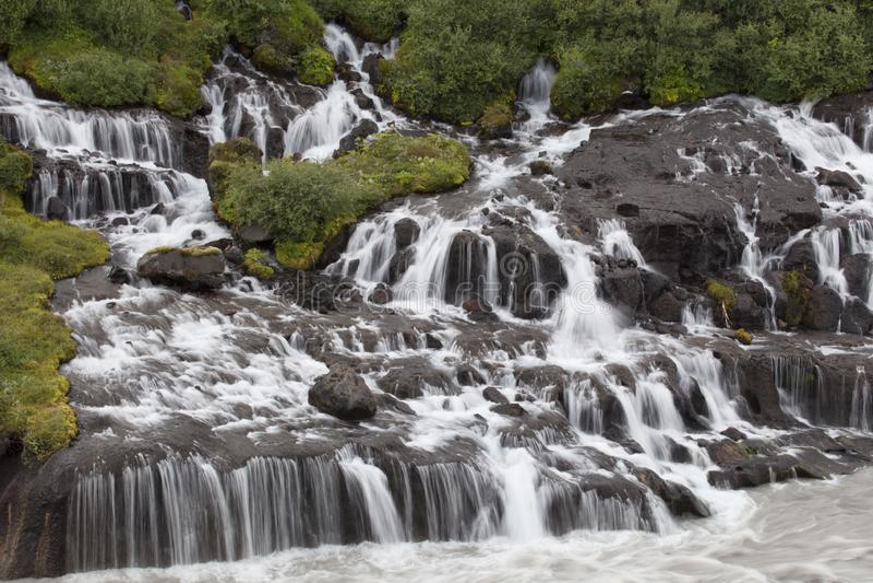 Svartifoss瀑布Skaftafell 免版税图库摄影