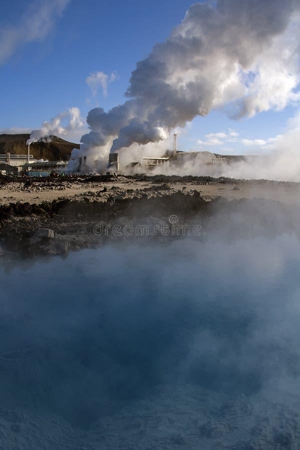 Svartsengi Geothermische Krachtcentrale - IJsland royalty-vrije stock afbeelding